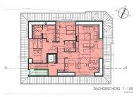Dachgeschoss, 3.5 Zimmerwohnung, 154 m2, Haus am Bach Zweisimmen