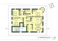 2. Obergeschoss, 4.5 Zimmerwohnung, 149 m2, Haus am Bach Zweisimmen